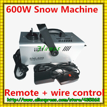 600W snow machine / snow machines remote control professional wedding, stage effects, DJ equipment(China (Mainland))