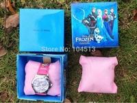 200pcs/lot,frozen box watch kids fashion anna elsa watch,DHL FED FREE