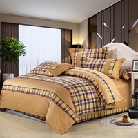 New style 100% cotton colorful plaid yarn dyed style bedding set. You best choice!!!