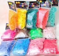 600pcs Package Rubber Band Loom Bands Girls DIY Bracelet Opp Bag
