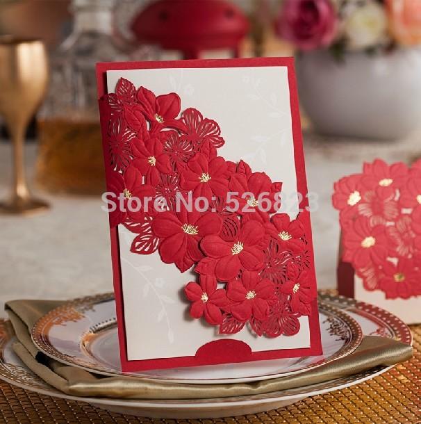 Cartão do convite corte laser, 100 jogos/lote expresso(China (Mainland))