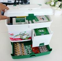 Free shopping Pyxides extra large household multi-layer first aid kit multifunctional medicine box big wholesale