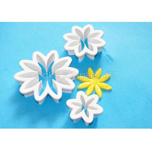 Daisy Flower Fondant Cake Cutter Cookie Plastic Decorating Kit Gumpaste Pastry Sugarcraft Cutter Decoration Tool(China (Mainland))