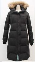2014 Winter Goose Parka Thick Coat Slim Hooded Down Jacket Women Warm Down Long Ultra Coat Women Snow Jacket Free Shipping