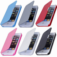 For iphone 5 5s Magnetic Leather Flip Hard Full Case Cover Pouch Skin For Apple for iphone 5 5s free shipping cell phone