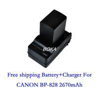 7.4V 2670mAh BP-828 rechargeable Battery BP828 BP 828 Camera batteries + charger for Canon HF G30 HFG30 XA20 XA25 BP-820