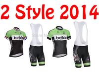2014 belkin Outdoor Cycling Jersey Short Sleeve and Bike Bib Shorts Ropa Ciclismo Clothing MTB C56