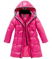 Winter jacket for girls brand design medium long duck down coats fashion kids girls thick warm parkas zipper jacket with a hood