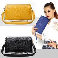 New crocodile cowsplit women handbag, real leather messenger bag for girl L789