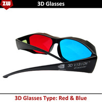 2014 Universal Type 3D Glasses/Red Blue Cyan 3D Glasses Anaglyph NVIDIA 3D Vision Plastic Glasses Dropshipping Free Shipping