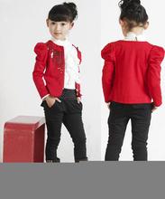 3 peça define criança crianças grandes roupa nova marca camisa de mangas compridas T e jaqueta e harem pants criança terno esportes meninas conjuntos de roupas(China (Mainland))