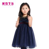 New arrival  autumn suspender dress #1413124 children girl dresses kids high quality baby dress