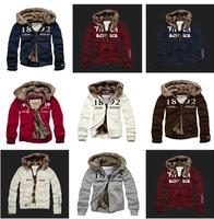 Winter Jacket  Men 2014 New Arrival Keep Warm  Men Hoodies Sportwear Coat Add Wool Liner Coat Sweatshirt Men Fur Jacket