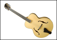 fully handmade yellow colour jazz guitar