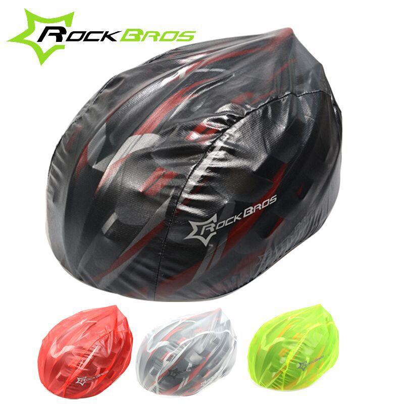 Rockbros Windproof Waterproof Dust-proof Rain Cover MTB Road Bike Helmet Cover Bicycle Cycling Helmets Covers New, 4 Colors(China (Mainland))