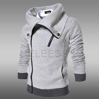 2014 Karean Slim Winter Autumn Casual Thick Men's Coat Long Sleeve Turn-down Collar Fleece Men's hoodies