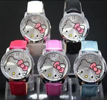 Children's Watch Cartoon Cute Wristwatch Leisure Quartz Wrist Watch Red Precise electronic movement and professional made