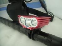 Freeshipping 6000Lumen 3x CREE XM-L U2 LED Head Front Bicycle bike Lamp Light Headlamp HeadLight 12000mAh Battery & Headband