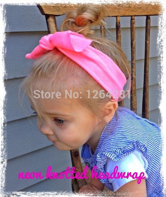 New 2014 Baby Strechy Cotton Headwrap Ears Bow Knot Headband Fashion Hairband Wholesale Baby Hair Accessories Hairware(China (Mainland))