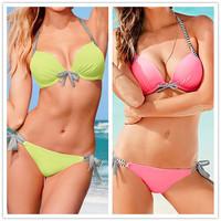 BK134 Women Bikini Set New 2014 Push Up Sexy Swimwear Swimsuit Good Quality 2 Color Beachwear Drop Shipping