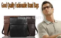 free shipping  2014 new arrival designer fashion men's single-shoulder bag messenger bags men handbag leather bag