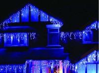 Christmas Essential Blue LED Light Fit Wedding Birthday Party New Year Dress Scene Decoration 3.5+0.5m 110-220V