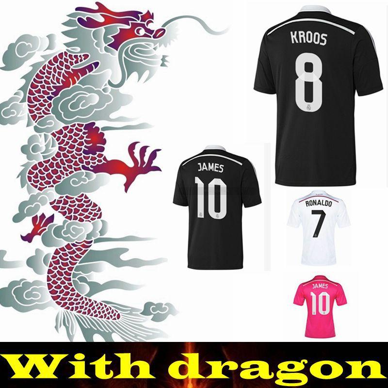 Real Madrid 14 15 Champions League AWAY black Soccer Jersey Real Madrid 2015 Real Madrid black Jersey Football shirt BALE RAUL(China (Mainland))