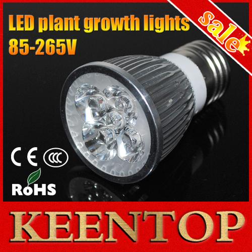 Full spectrum LED Grow lights 10W E27 LED Grow Lamp Bulb Flower Plant Hydroponics System AC85V 110V 265V Growing Box 1Pcs/lots()