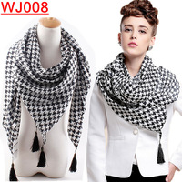 WJ008-- New Fashion winter new Plover case tassel women scarf  Winter scarves free drop shipping