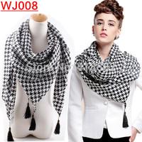 WJ008-- New Fashion winter new Plover case tassel women scarf  Winter scarves free drop shipping