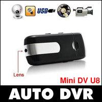 Free shipping.Mini DVR U8 USB DISK HD HIDDEN Camera Motion Detector Video Recorder
