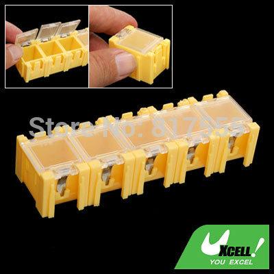 5 Pcs/lot Mini Composable Electronic Components Parts Box Discount 50(China (Mainland))