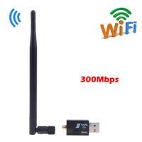 300Mbps 802.11n/g/b USB Wireless Wifi Wi Fi Wi-Fi Network LAN Dongle Adapter+External Antenna Laptop