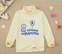 Wholesale autumn winter cotton long sleeve Russian baby girl clothing children t shirts for girls boys kids t shirt boy clothes