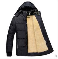 100% good quality 2015 new hot plus thick velvet jacket coat cotton padded jacket M-3XL Free Shipping