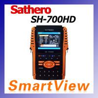 Original Sathero SH-700HD DVB-S/S2 Digital Satellite Finder Meter with 3.5' display support USB2.0 HDMI Satfinder free shipping