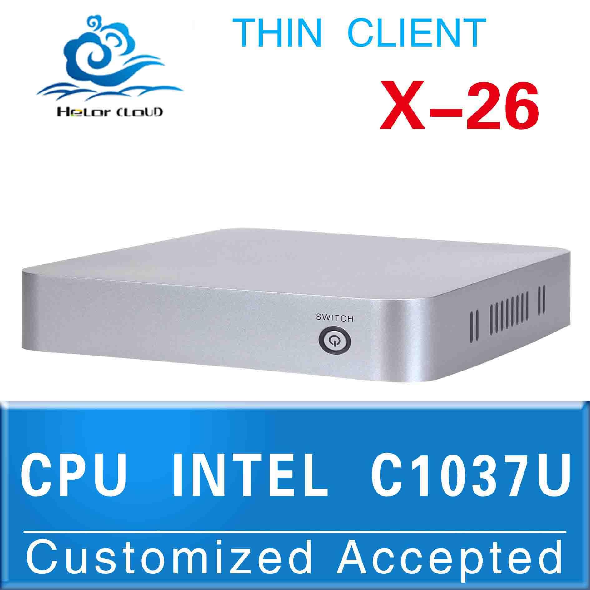 fan mini itx motherboard Multi computing linux mini pc vga C1037U X26 computer intel Celeron Dual barebone os(China (Mainland))