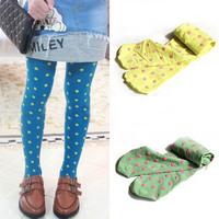 Trendy Kid Girl Polka Dot Dance Pantyhose Velvet Stretch Slim Legging Free shipping & Drop shipping
