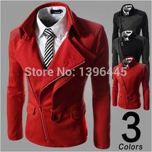Men's Coat Trench Coat Jacket Overcoat Casual Slim Fit Designer Pocket(China (Mainland))