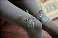 2014 autumn winter leggings girls cat leggings Cotton stereoscopic Cat ear design Slim 9 minutes pants leggings for women W00304