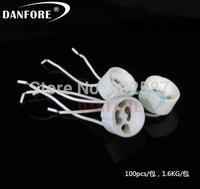 Free Shipping  50PCS LED GU10 connector GU10 socket For Halogen Ceramic Light Bulb Lamps Holder Base Wire Jack