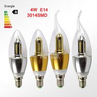 Free Shipping 4W E14 smd3014 high brightness LED Candle light E14 led bulb corn lamp cool/warm white CE RoHS 85-265V X10 PCS