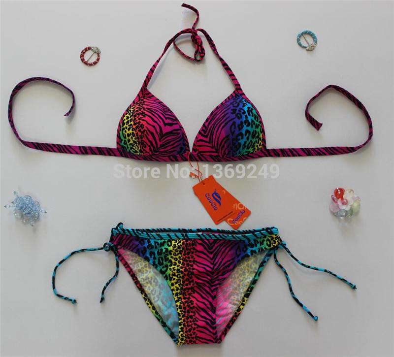 Set De Baño En Genero:set honda de baño bikini moda empuja hacia arriba traje de baño de