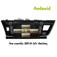 """Capacitive Screen Car DVD  Android 4.2  Special for Toyota Corolla 2014 Left Side Model with 9"""" Big Touch Panel"""