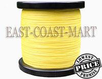 1pcs PE Dyneema Braided Fishing Line 4 strands Yellow 1000M 15LB 0.16mm spectra braided fishing line