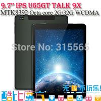 Cube U65GT Talk 9X talk9x MT8392 Octa Core 3G GPS Tablet PC Phone Call 9.7inch 2048x1536 IPS 8.0MP Camera 2GB/32GB Android 4.4