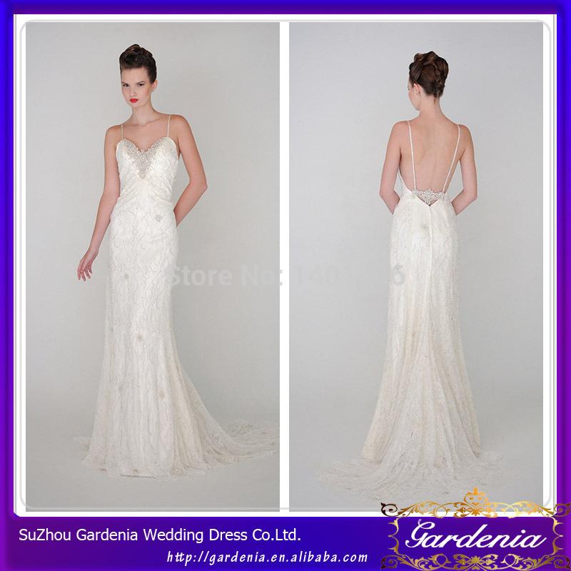 Long Modern Wedding Dress