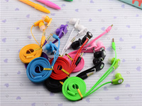 Colorful In-ear Earbuds Headphone Noodle Earphone for iPod for Iphone for Samsung for HTC for MP3 Headset  8Colors Free Shipping