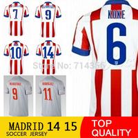 TIAGO KOKE TURAN 2015 GABI home away soccer jerseys, RODRIGUEZ MANDZUKIC top 3A+++ thai quality football uniform embroidery logo