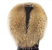 Free Shipping REAL Wonderful raccoon fur collar /scarf/natural Genuine Big Raccoon Fur Collar scarf warp shawl neck warmer